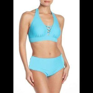 Nicole Miller High Waisted 2PC Bikini Swimsuit 2X